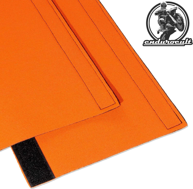 endurocult Neoprene Velcro fork protector long orange 43-50 mm