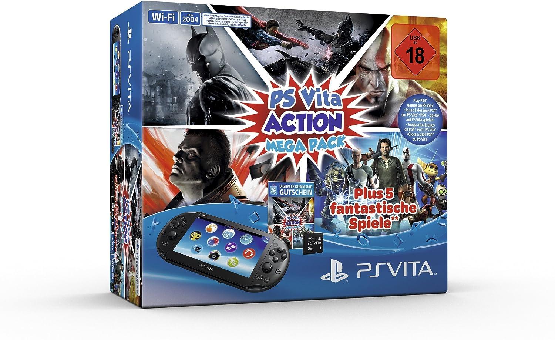 Ps Vita - Konsole Black Wifi / 8Gb Speicherkarte / Mega Pack ...