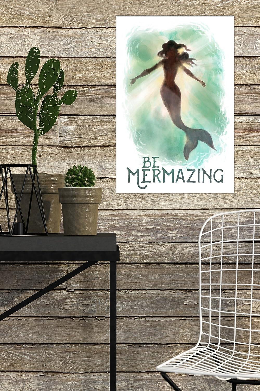 Mermaid Underwater 6x9 Acrylic Photo Block Gallery Quality Be Mermazing