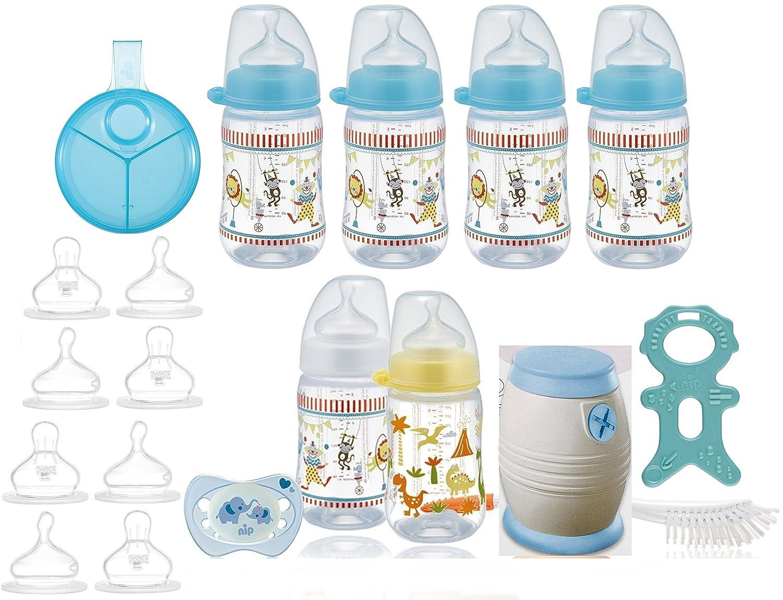 nip Erstausstattung - Cool Twister Set - Flaschen- & Saugerset & Milchpulverspender plus überraschungsgeschenk f