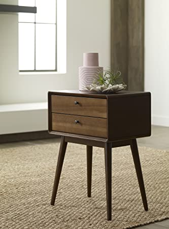 Remarkable Elle Decor Rory Two Drawer Side Table Amber Home Interior And Landscaping Ologienasavecom
