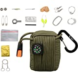 The Friendly Swede Survival-Pod - Survival-Kit inklusive Drahtsäge, Rettungsdecke und Paracord