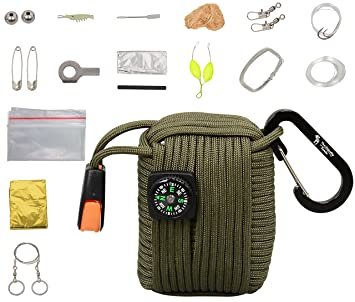 The Friendly Swede Kit de Supervivencia Multifunción con 20 Accesorios Incluidos entre ellos Manta de Emergencia