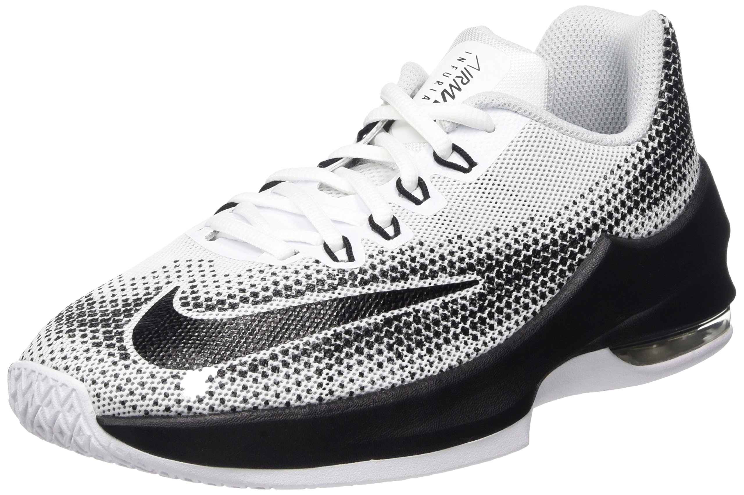 NIKE Kids Air Max Infuriate (GS) White/Black Wolf Grey Basketball Shoe 4.5 Kids US