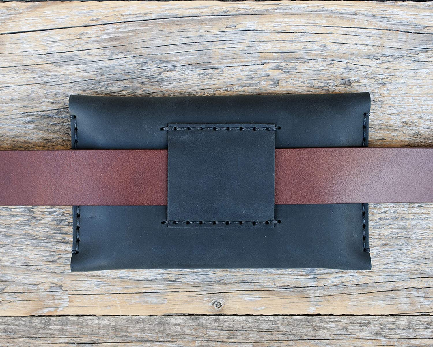 belt wallet Bovine leather case for Microsoft Surface Duo BLACK cover