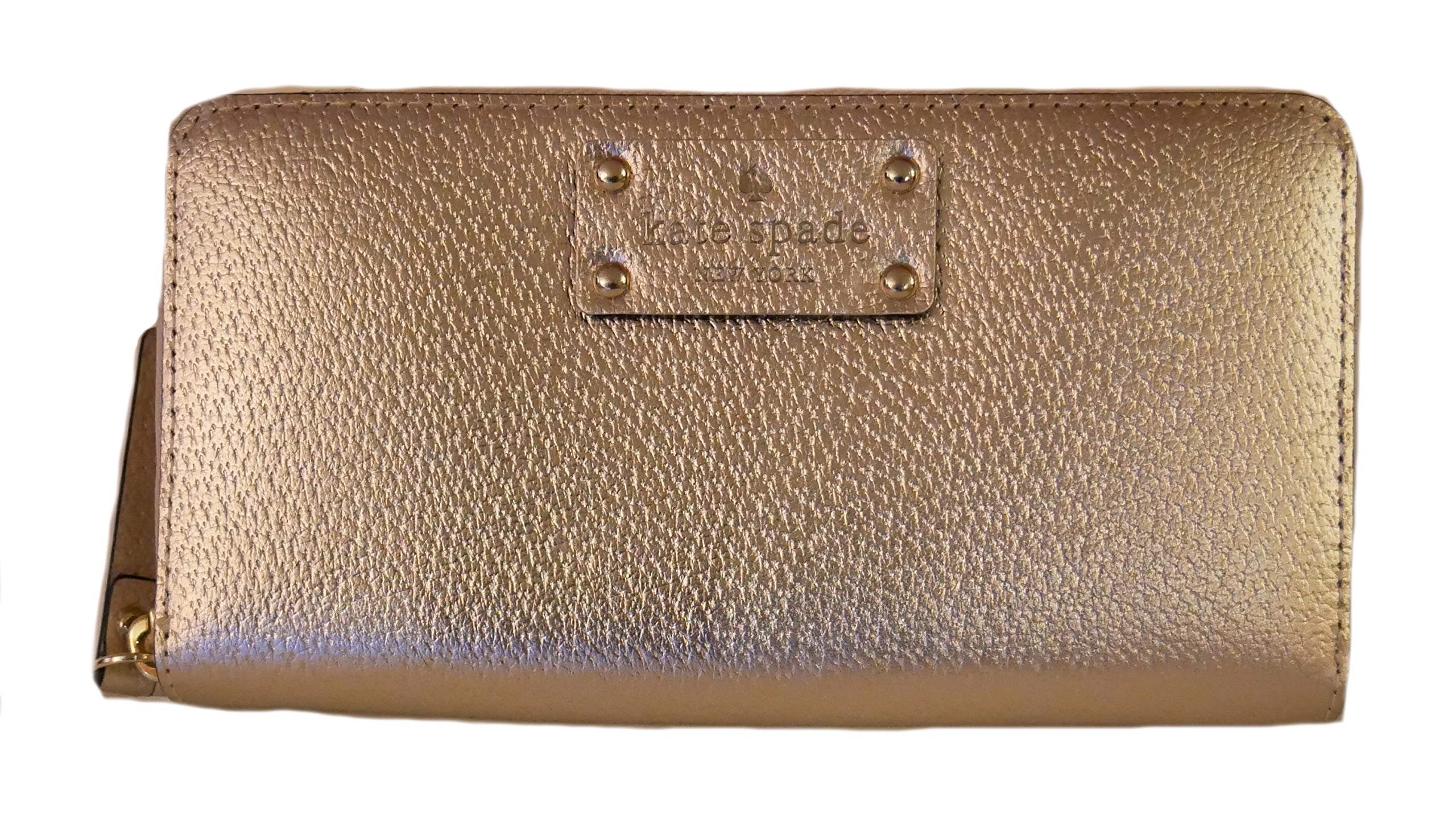 Kate Spade Wellesley Neda Zip Around Wallet (Rose Gold)
