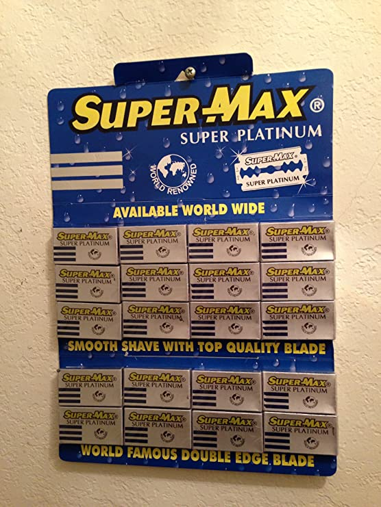 Super-max Super Platinum Double Edge Razor Blades Hair Styling Products at amazon