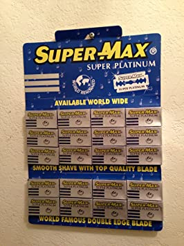 Super-max Super Platinum Double Edge Razor Blades at amazon