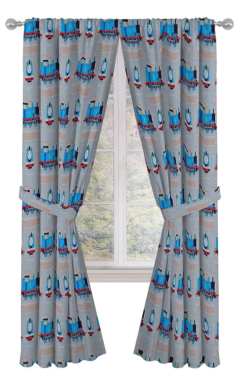"Jay Franco Thomas The Tank Engine Tech 84"" Decorative Curtain/Drapes 4-Piece Set (2 Panels, 2 Tiebacks)"