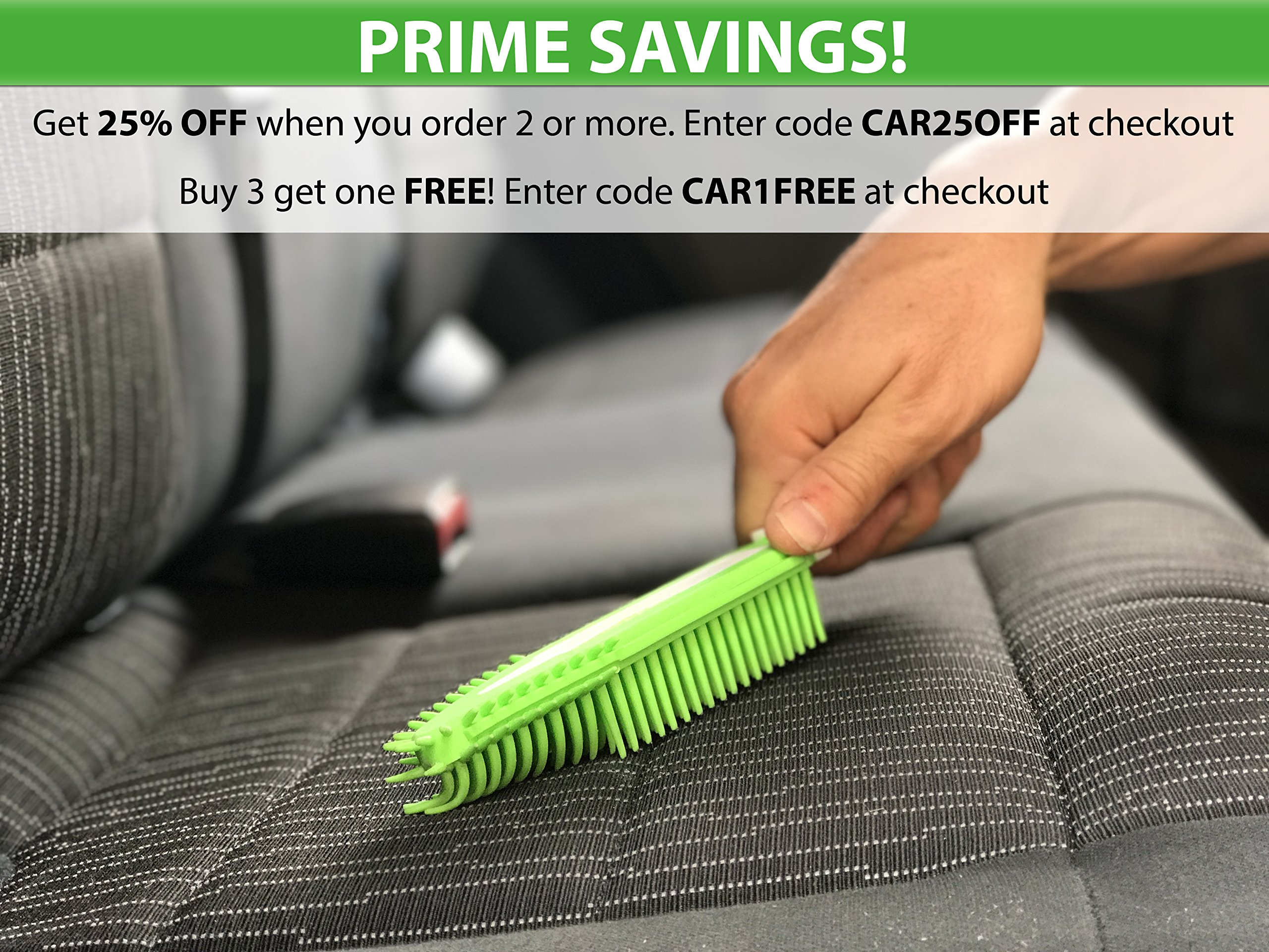 Best Car & Auto Detailing Brush for Pet Hair Removal and Car Upholstery Cleaner - Best Pet Hair Remover for Dog And Cat Hair - Great On Furniture (Bedding, Carpets, Blankets) – Use As A Lint Remover f by Dasksha (Image #2)