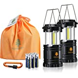 Forester+ Camping Lantern (2-Pack), Super Bright COB LED, Great for Camping, Hiking, Power Outage, Survival Kit, Emergency Li