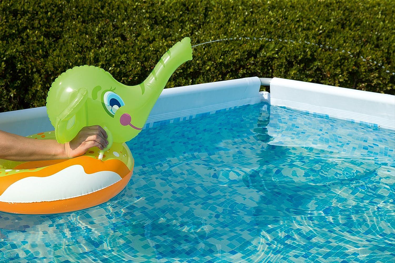 Vert Bestway Gonflable El/éphant Piscine Anneau Flotteur Piscine avec Eau Pulv/érisation Tronc
