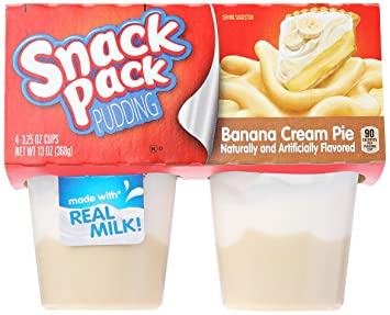 Snack Pack Banana Cream Pie Pudding Cups, 4 Count