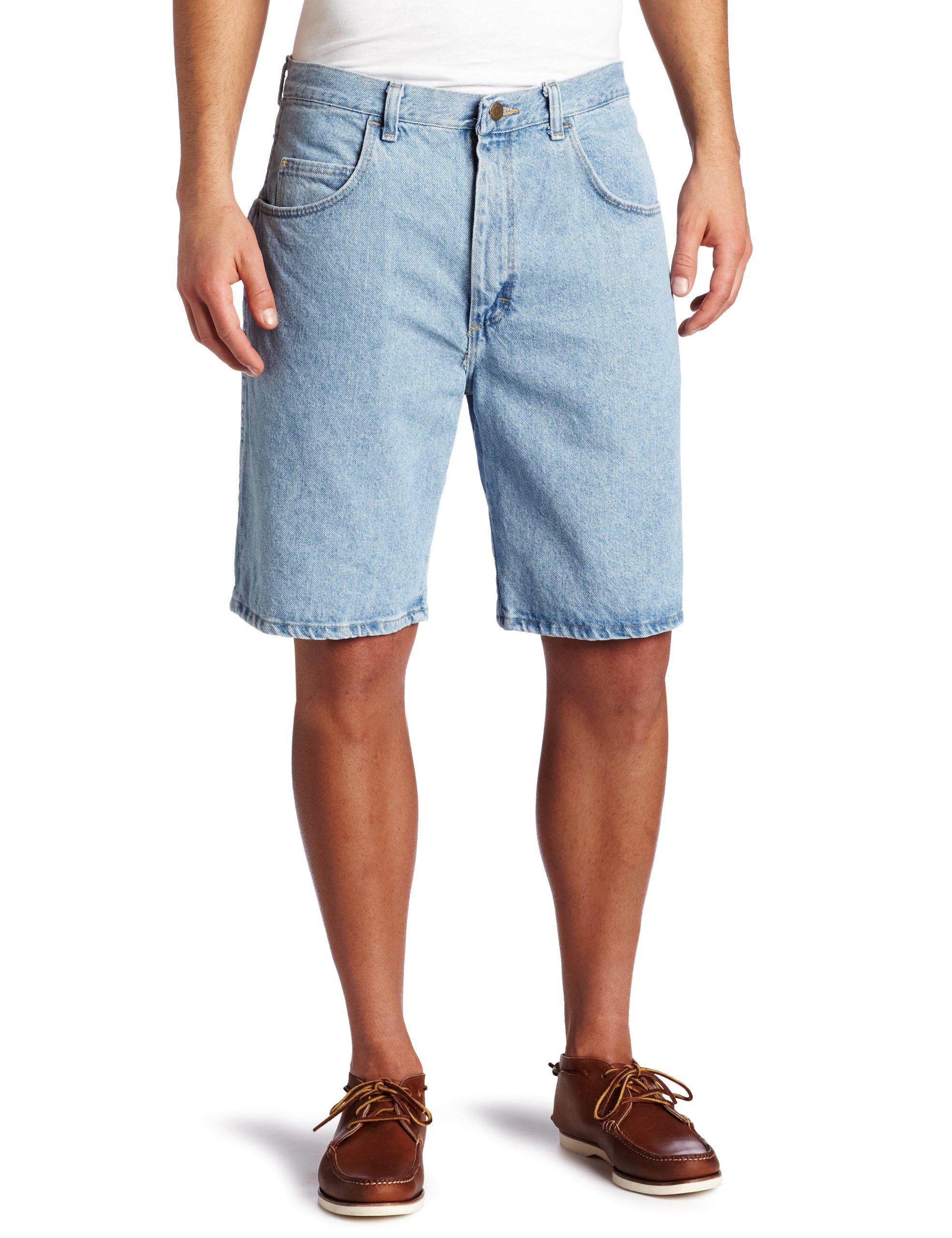 Wrangler Men's Rugged Wear Relaxed Fit Short, Vintage Indigo, 32