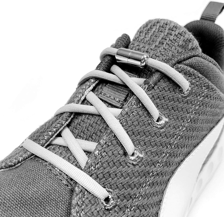 Elastische Schnürsenkel mit Metallkapsel Schnellschnür Schuhe Schnur  24 Farbe