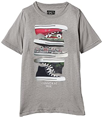 16ae0ca4c4cb Converse Boys Printed T-Shirt  Amazon.in  Clothing   Accessories