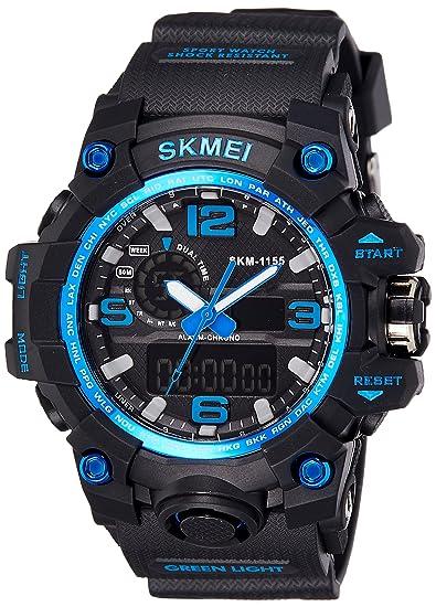 Skmei Analog-Digital Blue Dial Men's Watch - 1155BBBL Men's Watches at amazon
