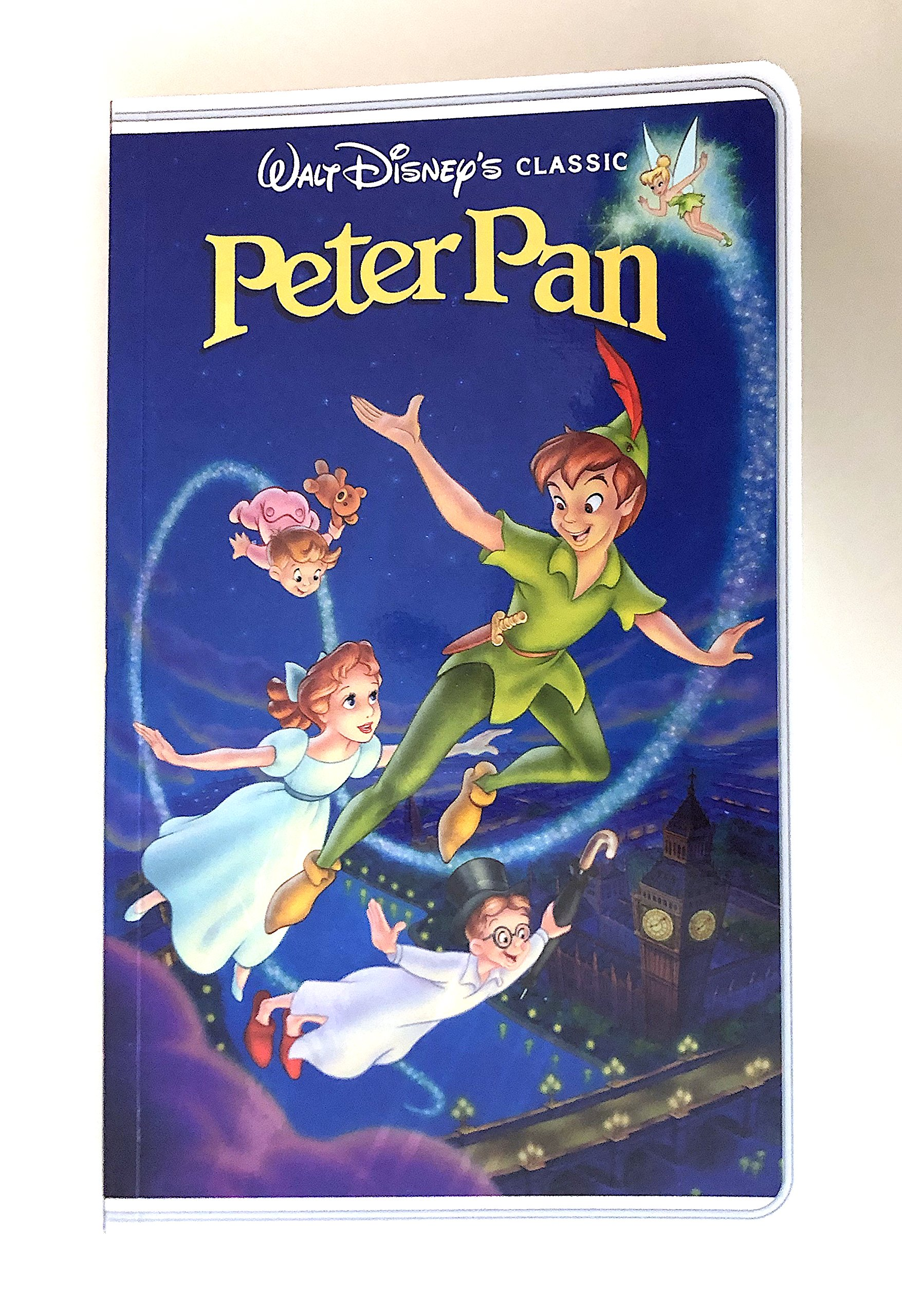 Disney Parks Peter Pan VHS Cover Blank Book Journal Diary