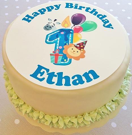 Sensational Happy 1St Birthday Cake Topper Personalised 1St Birthday Cake Birthday Cards Printable Inklcafe Filternl