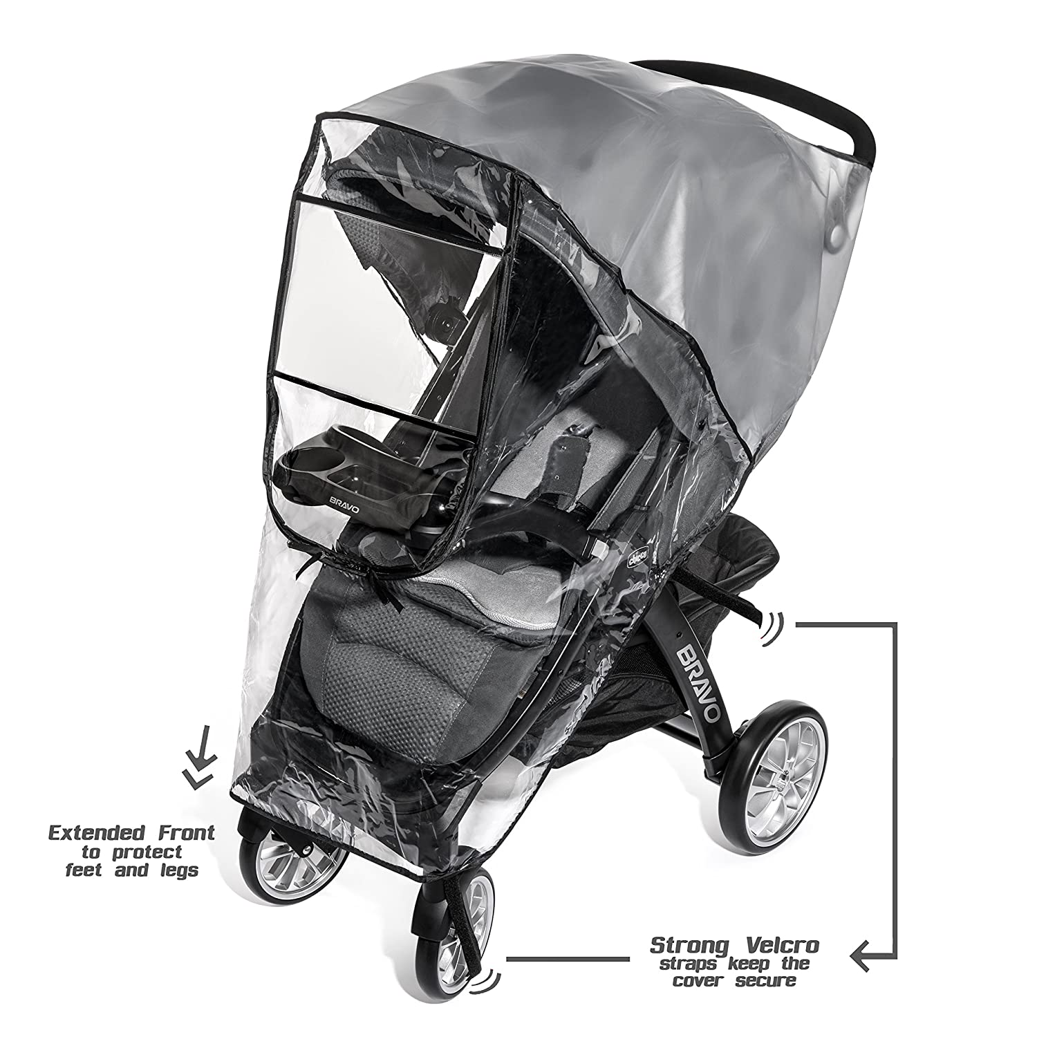 Amazon.com : Premium Stroller Cover Weather Shield, Easy In/Out ...