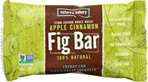 Nature's Bakery Whole Wheat Fig Bar, Apple Cinnamon, 6 Bars (Pack of 12)