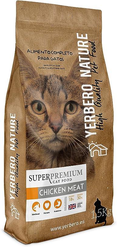 Yerbero NATURE CHICKEN MEAT pienso superpremium para gatos 1,5kg ...