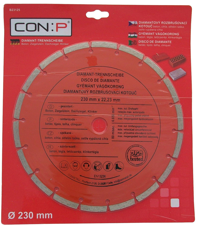 CON:P B23125 DISCO DE DIAMANTE UNIVERSAL 230MM: Amazon.es: Bricolaje y herramientas