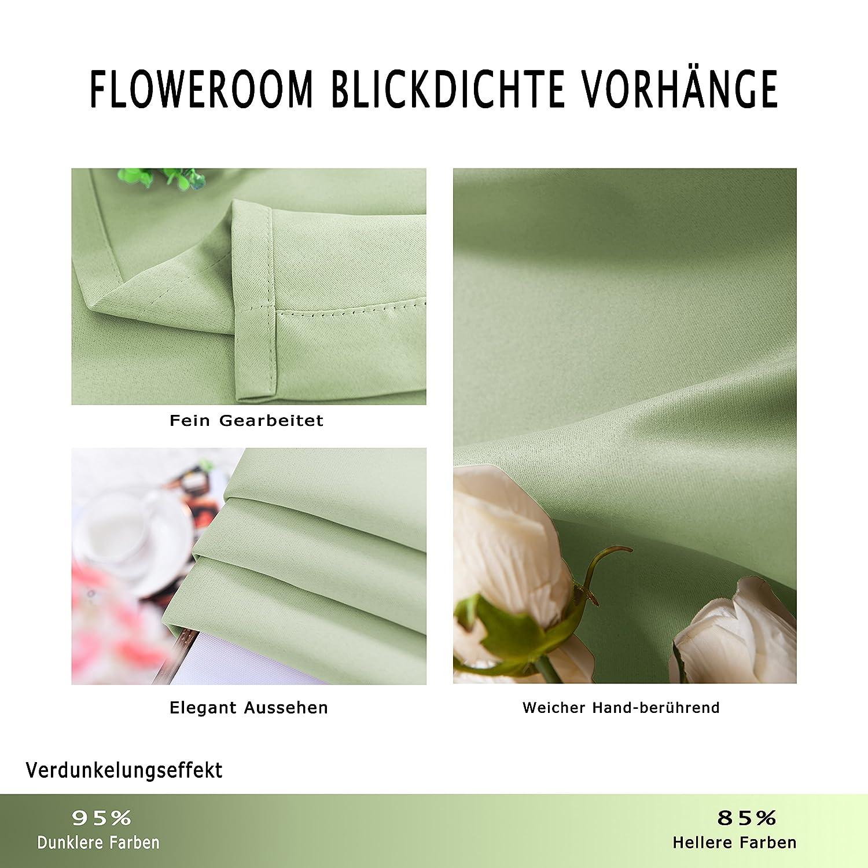 FLOWEROOM Blickdichte Gardinen Verdunkelungsvorhang - Lichtundurchlässige Vorhang mit Ösen für für für Schlafzimmer Grau 245x140cm(HxB), 2er Set B073QG5FX5 Vorhnge 1bb4b6