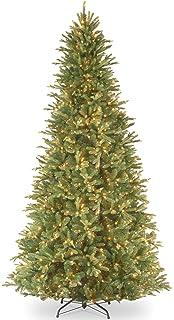 national tree 12 foot feel real tiffany fir slim tree with 1200 clear lights - Slim Christmas Trees