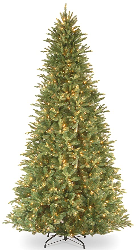 national tree 12 foot feel real tiffany fir slim tree with 1200 clear - 12 Ft Artificial Christmas Trees