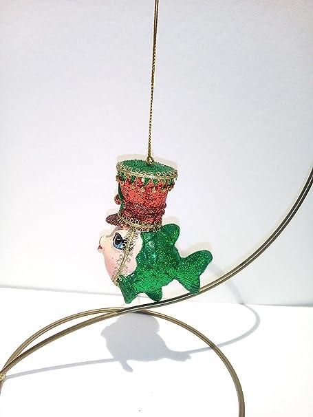 Addobbi Natalizi Goodwill.Good Will Pesce Pesciolino Verde Addobbo Decorazione Albero Natale Ceramica H9cm Goodwill Amazon It Casa E Cucina