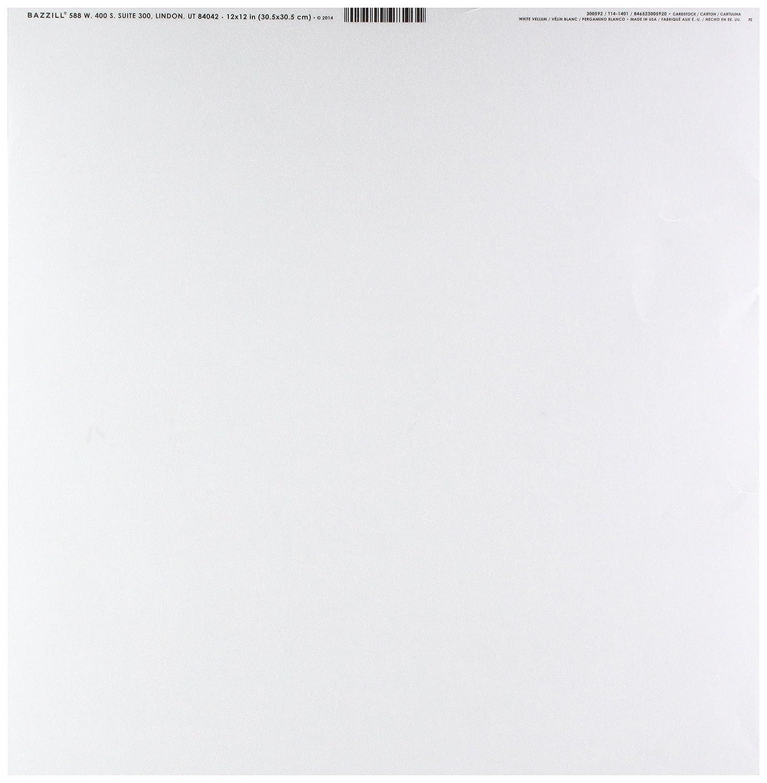 White 12-x-12-Inch Bazzill Basics Paper Bazzill Basics Vellum Sheets