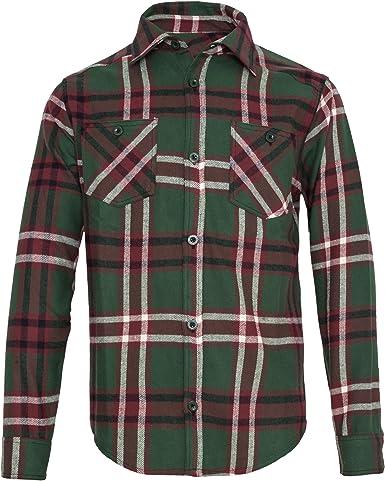 Camisa de cuadros – Green to Cream – King kerosin 20 XL ...