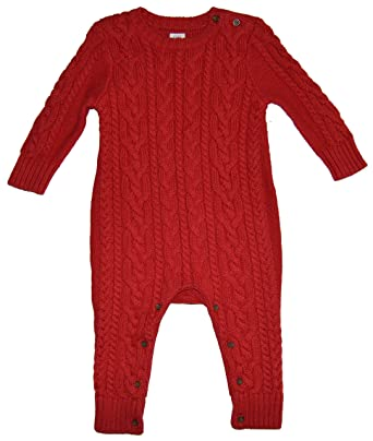 Amazon Babygap Baby Gap Red Cableknit Sweater Romper 6 12