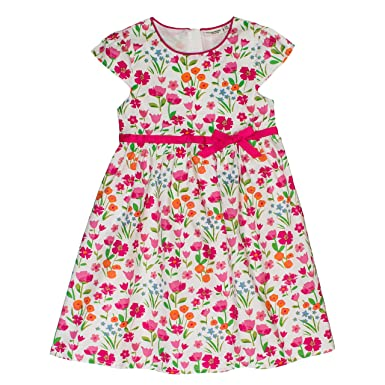 Salt Pepper Girl S Blumen Allover Schleife Dress Amazon