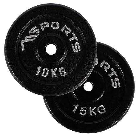 Par de discos profesionales 100 % de hierro fundido 5-30 kg pesas, 2
