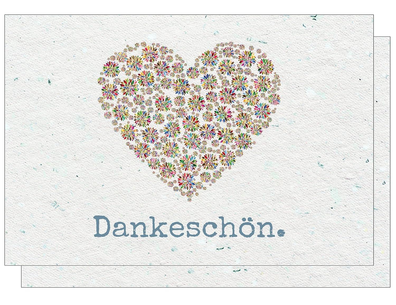 Dankeskarten - Dankeschön, Danksagung nach Hochzeit, Geburtstag, Konfirmation u.v.m. : 20 Karten mit 20 Umschlägen. the lazy panda card company