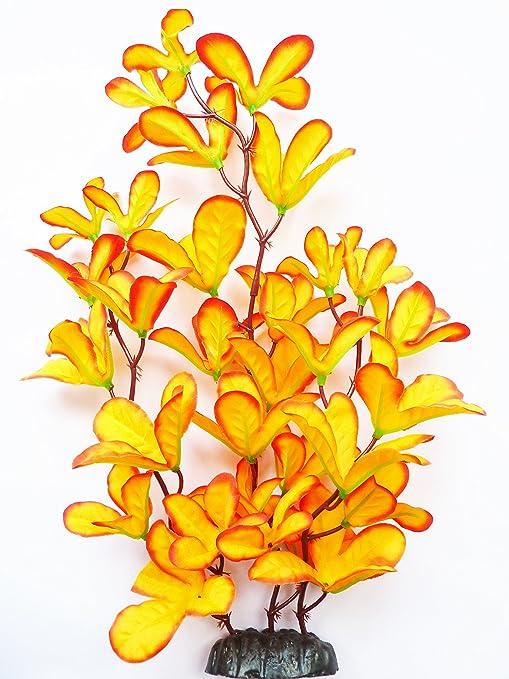 Acuario Planta (seda) color naranja orquídea Fish Tank Decoración