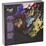 Craft Crush Felt Succulents - Make Your Own Colorful Floral Centerpiece - Home Décor Crafting Kit for Teens & Adults