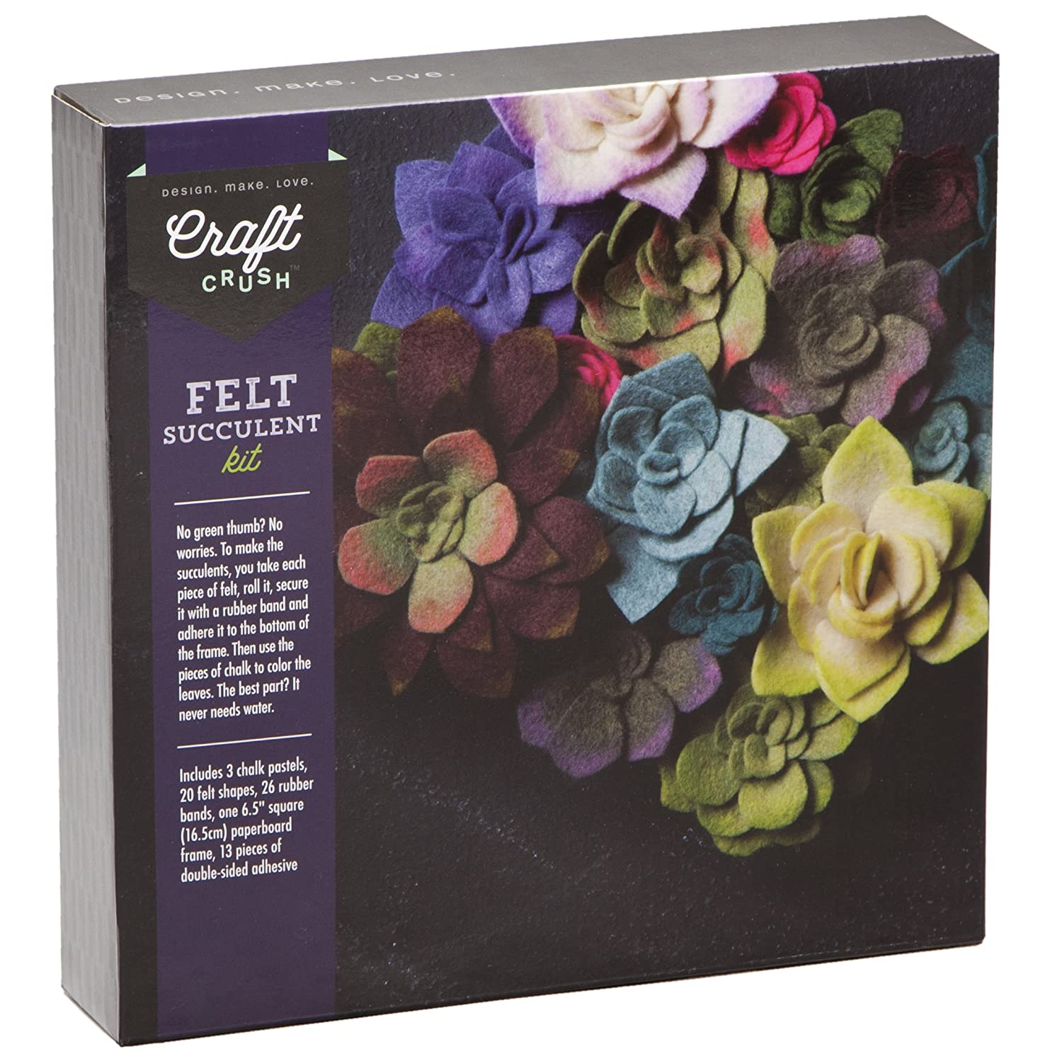 Amazon craft crush felt succulents make your own colorful amazon craft crush felt succulents make your own colorful floral centerpiece home dcor crafting kit for teens adults jeuxipadfo Image collections