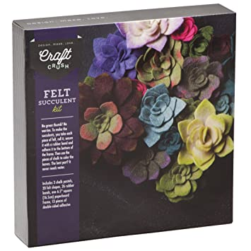 make your own flower loom amazoncom craft crush felt succulents make your own colorful