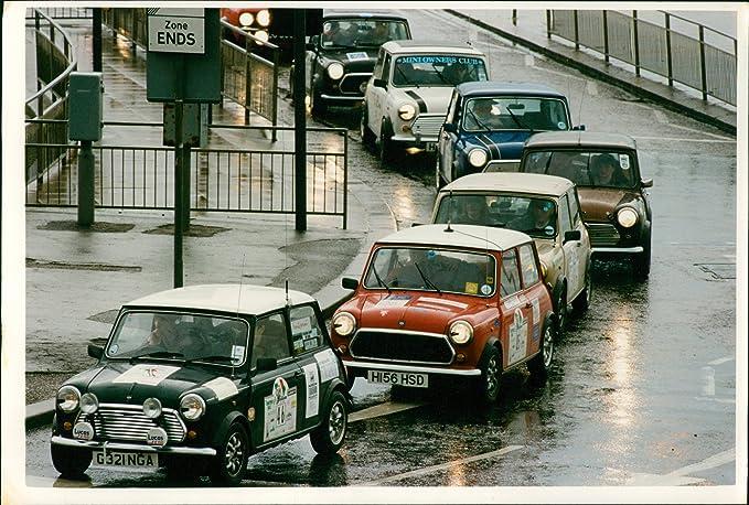 Amazon.com: Vintage photo of motor car BMC mini (finish of mini run ...