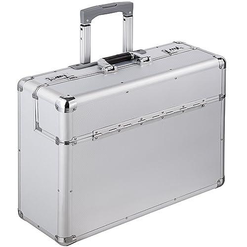 TecTake XL maletín de piloto cabin maleta trolley con cerradura y ruedas plata: Amazon.es: Zapatos y complementos