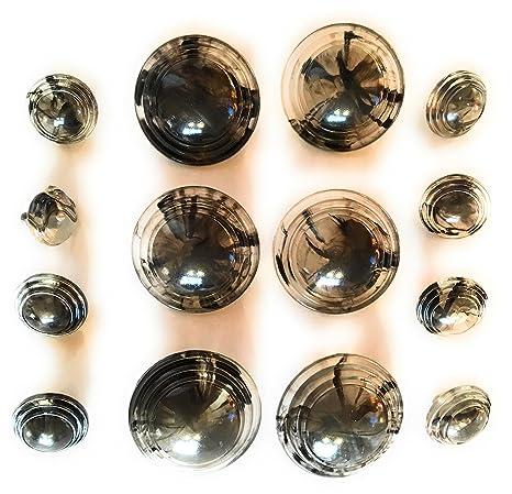 Lucid de cúpula negro conjuntos de botones para abrigos, spotscoats, vestidos Juego.