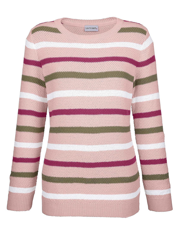 Laura Kent Damen Pullover mit Streifen lovely