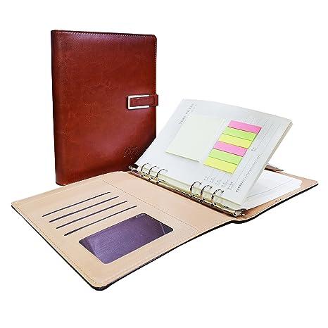 Amazon.com: nitacy cuaderno de piel diario recargables 6 ...