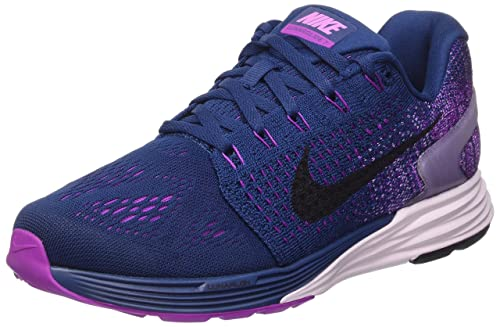 timeless design b3d61 f661a Nike Women s Lunarglide 7 Running Shoe BRAVE BLUE BLACK-VIVID PURPLE. 9  B(M) US  Amazon.in  Shoes   Handbags