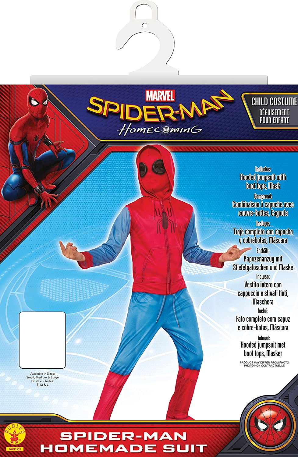 Rubies Marvel Spider-Man Far from Home Childs Spider-Man Costume Top /& Mask Medium Red//Black