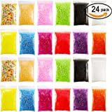 Approx 72000 Balls Micro Polystyrene Styrofoam Beads Small Foam Balls 0.08-0.15 Inch Slime Beads Set with 3 Slime Tools Fit for Slime Making Art