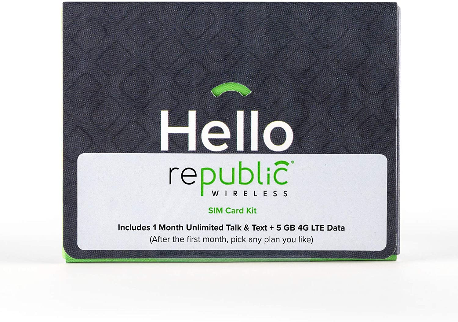 No Contract Required $40 Service Value Republic Wireless Preloaded 3-in-1 SIM Card Kit with 1 Month of Service Including 5GB of 4G LTE Data Plus Unlimited Talk and Text